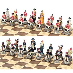 Fame Large Themed Chess Pieces - Napolean War