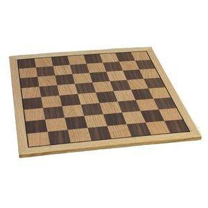 """Fame 16"""" Oak Chess Board"""