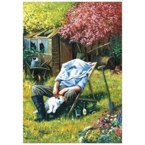 Wentworth Wooden Puzzles Wentworth Wooden Jigsaw Puzzle - Busy in the Garden