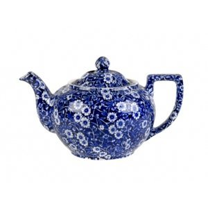 Burleigh Pottery Calico Blue 3-4 Cup Teapot