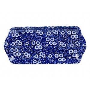 Burleigh Pottery Calico Blue Sandwich Tray