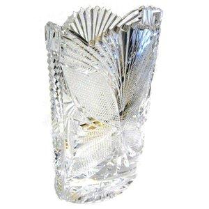 Heritage Crystal Heritage Crystal Enchanted Garden Oval Vase