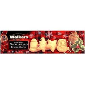 Walker's Shortbread Co. Walkers Festive Shapes Shortbread - 175g