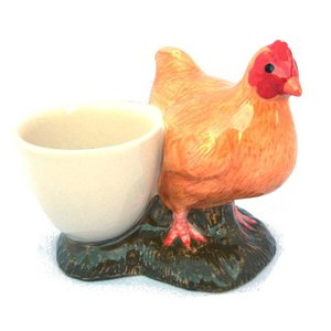 Quail Ceramics Quail Buff Orpington with Egg Cup
