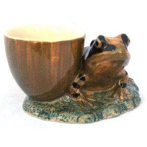 Quail Ceramics Quail Frog with Egg Cup