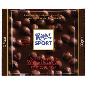 Ritter Sport Ritter Sport Dark Chocolate with Whole Hazelnuts