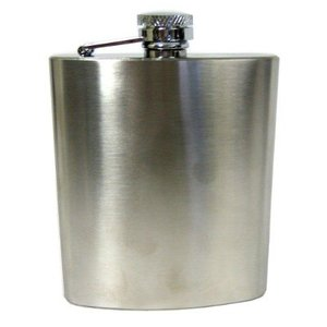 Concord Concord Satin Finish Stainless Steel Flask - 6oz