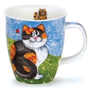 Dunoon Dunoon Nevis Happy Cats Mug - Tortoise