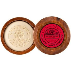 Crabtree & Evelyn C&E Sandalwood Shave Soap in Wooden Bowl