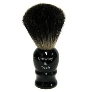 Crowley & Tosh Crowley & Tosh Black Badger Shaving Brush - Imitation Ebony