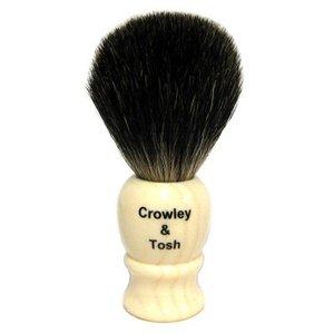 Crowley & Tosh Crowley & Tosh Black Badger Shaving Brush - Imitation Ivory