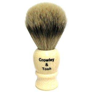 Crowley & Tosh Crowley & Tosh Silvertip Badger Shaving Brush - Imitation Ivory