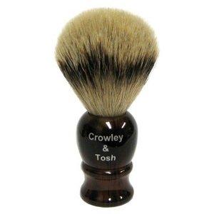 Crowley & Tosh Crowley & Tosh Silvertip Badger Shaving Brush - Imitation Tortoise Shell