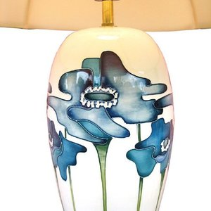 Moorcroft Pottery Moorcroft Blue Heaven Lamp with Shade