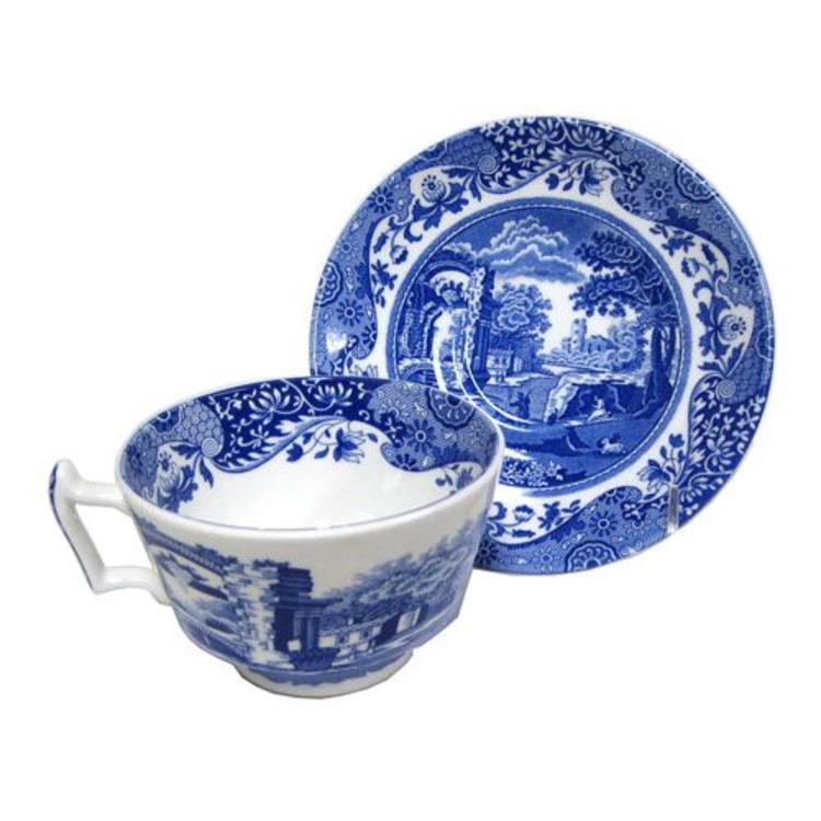 Spode Blue Italian Teacup Saucer