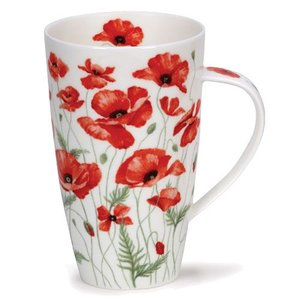 Dunoon Dunoon Henley Poppies Mug - Red