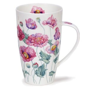Dunoon Dunoon Henley Poppies Mug - Pink