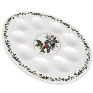 Portmeirion Holly & Ivy Devilled Egg Plate