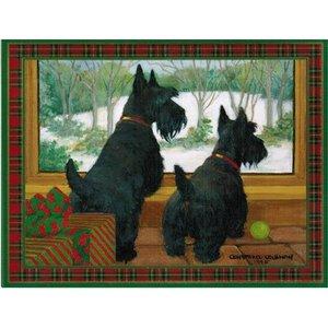 Caspari Caspari Scottie Christmas Cards