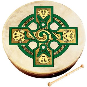 Waltons Gallen Cross Bodhran - 12 in.