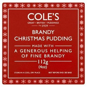 Cole's Foods Brandy Christmas Pudding - 112g (Individual)