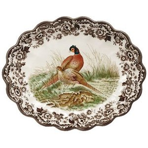 Spode Spode Woodland Oval Fluted Dish - Pheasant