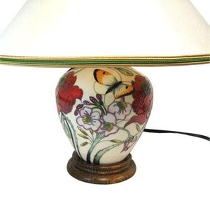 Moorcroft Pottery Moorcroft A Family Through Flowers Lamp L8/6 (w/ Shade)
