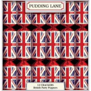 Pudding Lane Pudding Lane Retro Union Jack Christmas Crackers - 12 Count