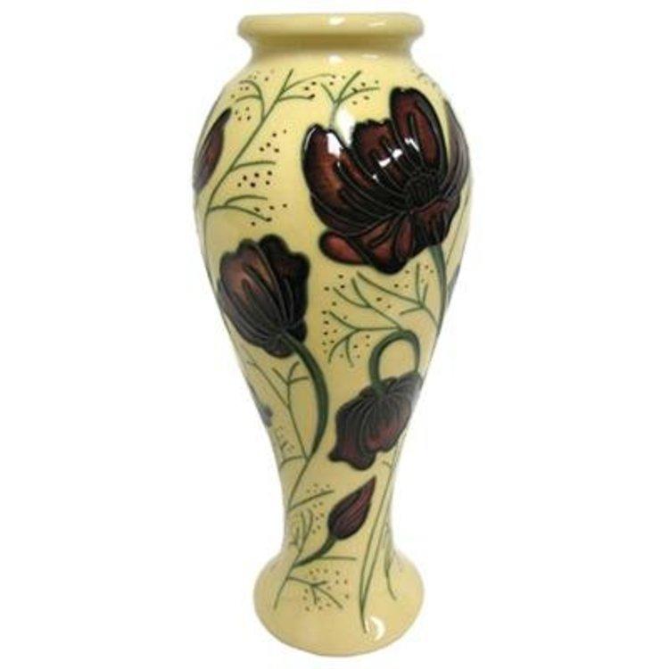 Moorcroft Pottery Moorcroft Chocolate Cosmos Vase 758 British Isles