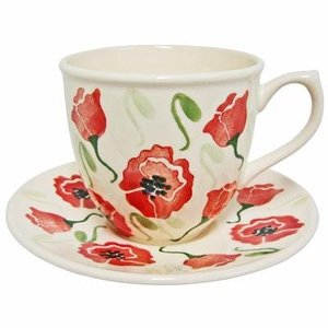 Peregrine Pottery Peregrine Pottery Poppy Cup and Saucer