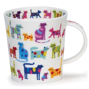 Dunoon Dunoon Lomond Colorful Cats Mug