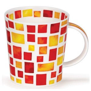 Dunoon Dunoon Lomond Piazza Mug - Red/Yellow