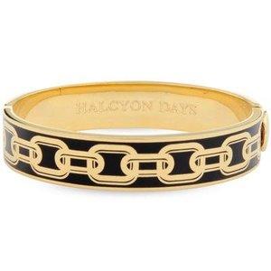 Halcyon Days Halcyon Days Chain Bangle - Black and Gold