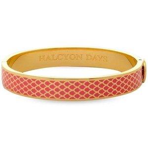 Halcyon Days Halcyon Days Salamander Bangle - Coral and Gold
