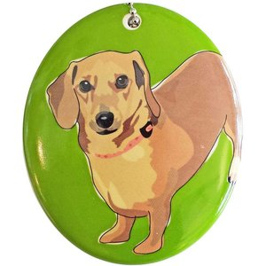 Go Dog Ceramic Ornament - Dachsund