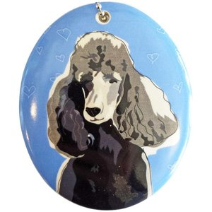 Go Dog Ceramic Ornament - Poodle