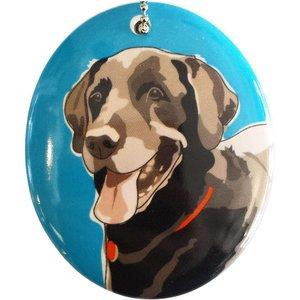 Go Dog Ceramic Ornament - Black Labrador
