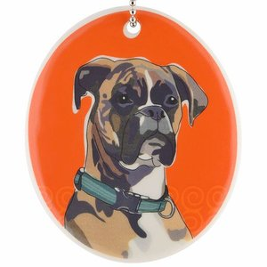 Go Dog Ceramic Ornament - Boxer
