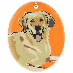 Go Dog Ceramic Ornament - Golden Retriever