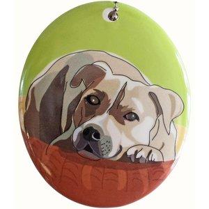 Go Dog Ceramic Ornament - Pit Bull