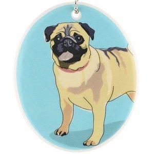 Go Dog Ceramic Ornament - Pug
