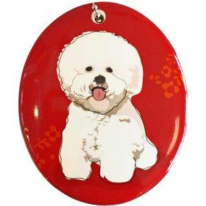 Go Dog Ceramic Ornament - Bichon Frise
