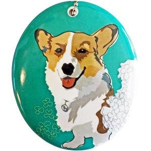 Go Dog Ceramic Ornament - Corgi