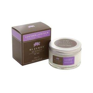 St. James of London St. James Lavender & Geranium Sensitive Skin Shave Cream Tub