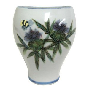 Highland Stoneware Highland Stoneware Thistle Small Oval Vase
