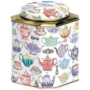 Elite Dome Square Teapot Tin