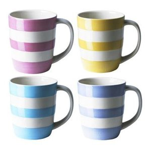 "Cornishware Cornishware ""Girls"" Mugs - Set of Four"