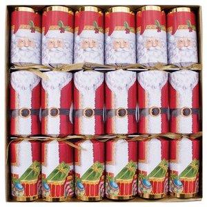 Caspari Caspari Christmas Crackers - Santa - 6 Count