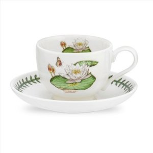 Portmeirion Portmeirion Exotic Botanic Garden Teacup & Saucer - White Waterlily
