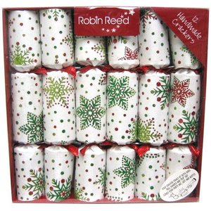Robin Reed Robin Reed Multi Glitter Snowflakes Christmas Crackers - 12 Count